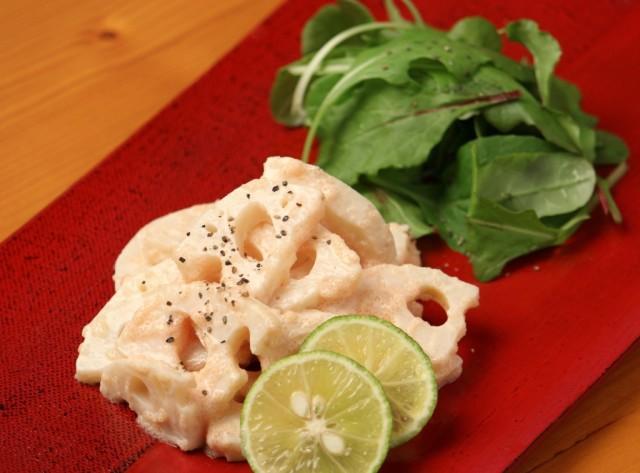 レンコンの明太マヨサラダ